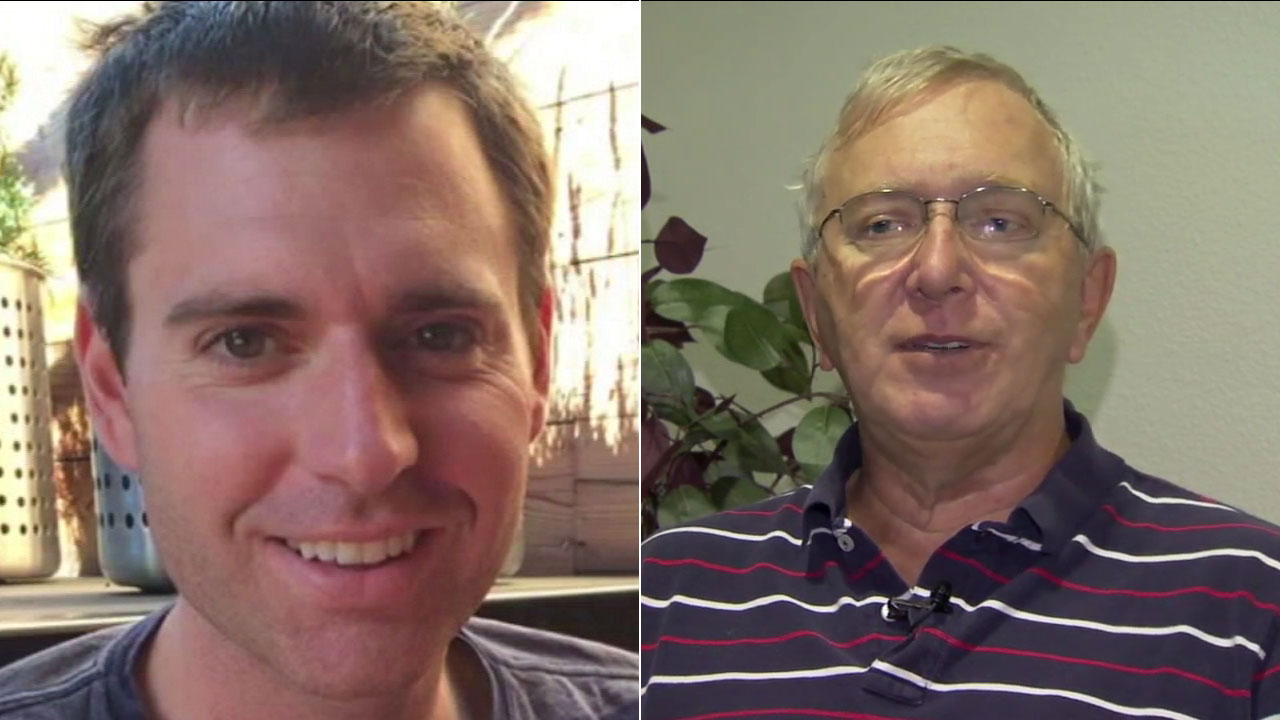 A split image shows Tristan Beaudette (left) and his stepfather Terry Krosschell.