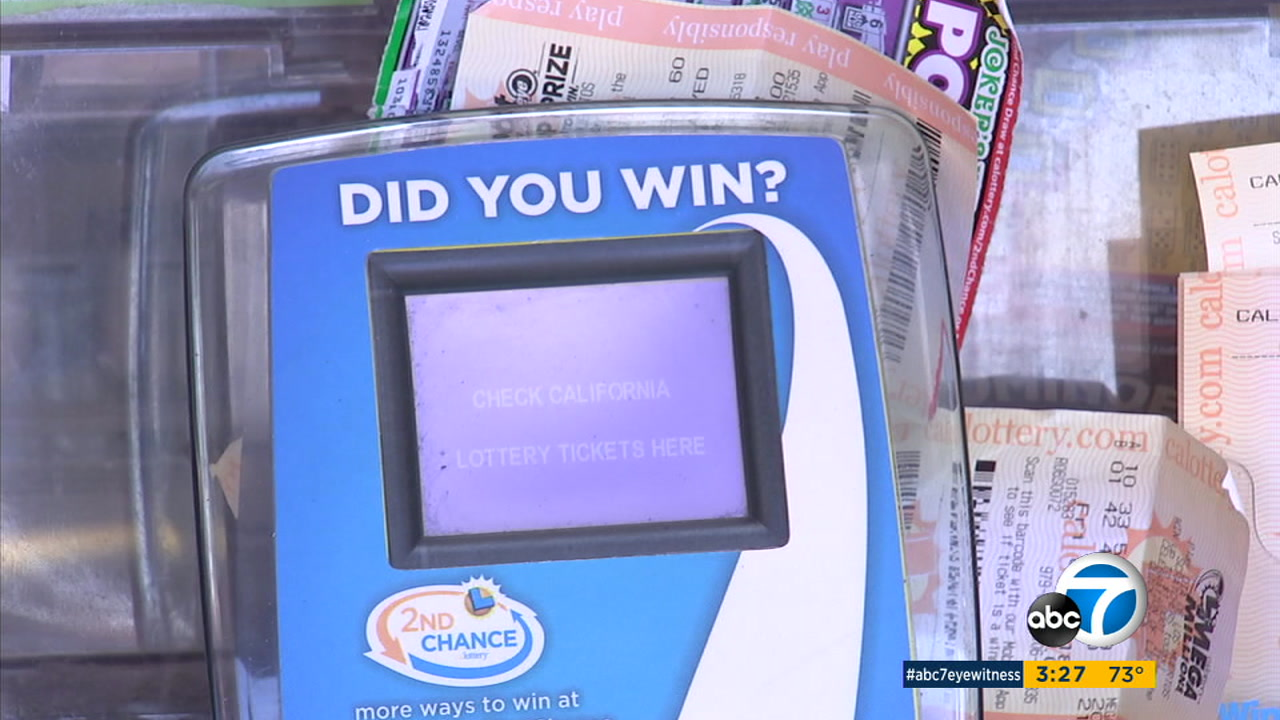 A machine to check lottery tickets is shown in a photo.
