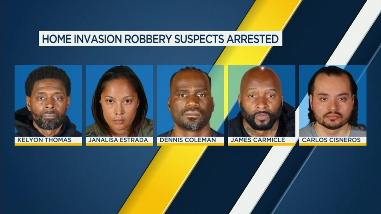 Alleged gang members charged in series of home invasion robberies in LA County