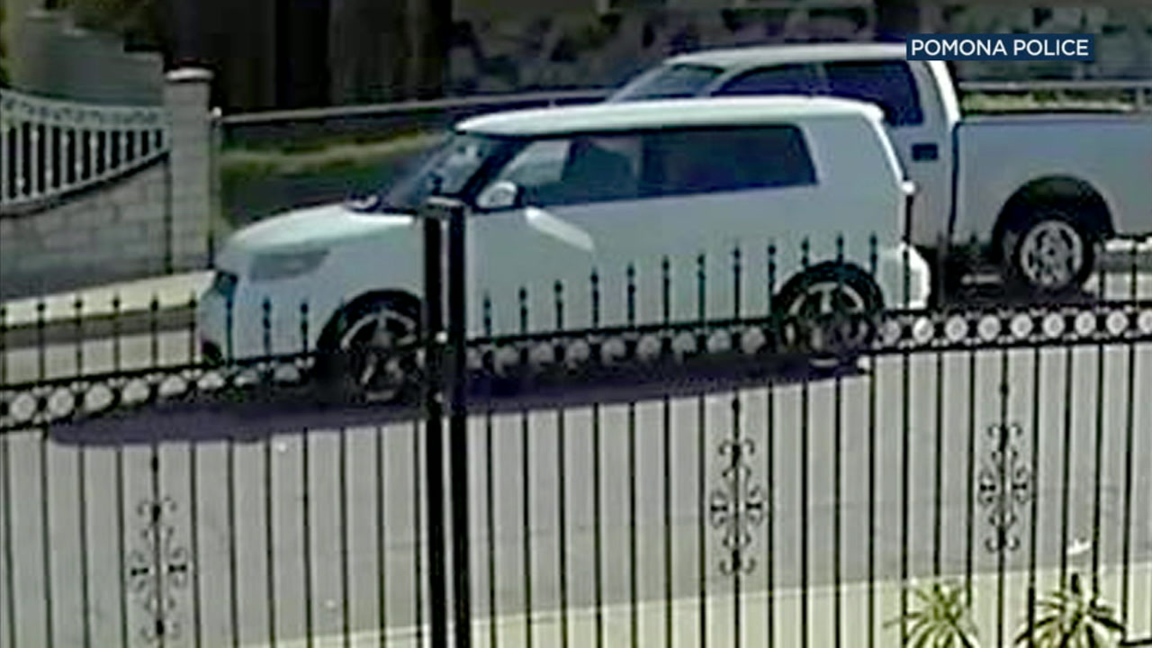 Police have released new pictures of a white Scion xB they believe was used in the gang-related shooting of a 10-year-old boy in Pomona.