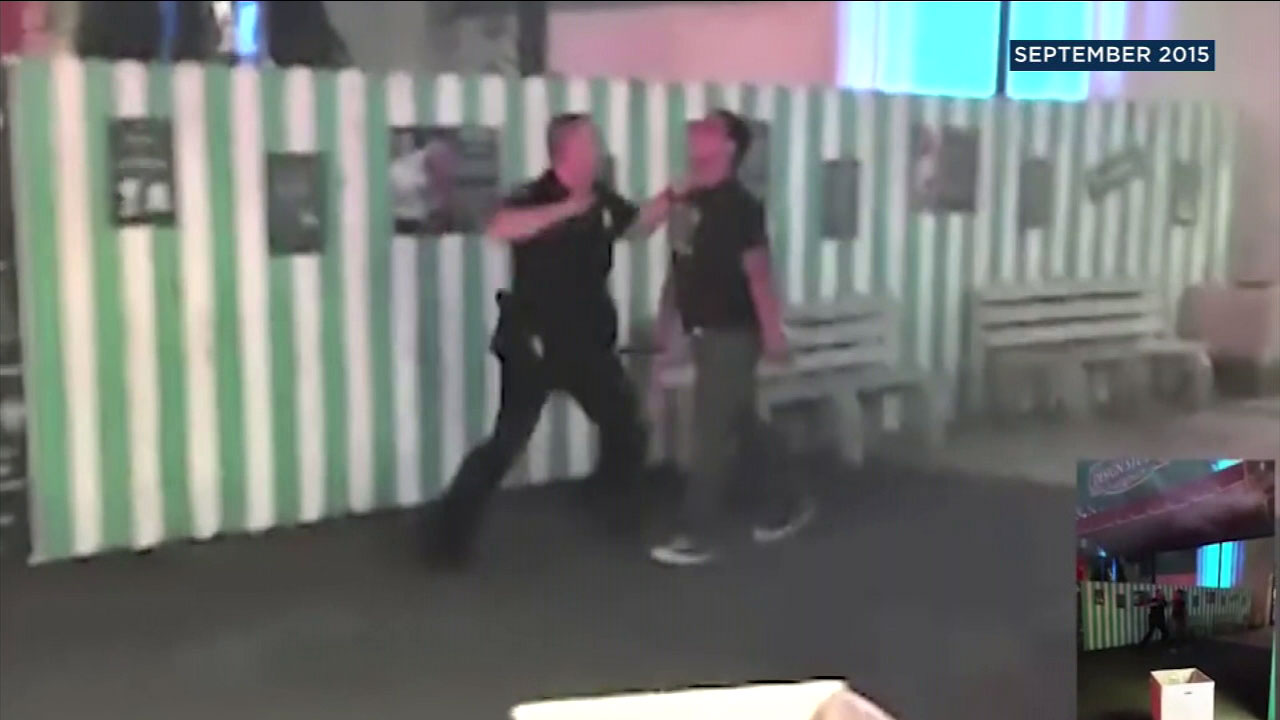 Video shows a Pomona police officer punching a 16-year-old boy at the Los Angels County Fair in 2015.