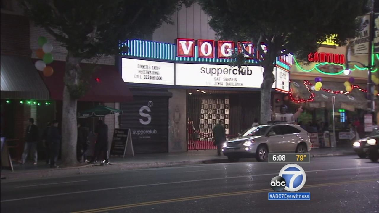 The Hollywood Supper Club is shown in an undated image.
