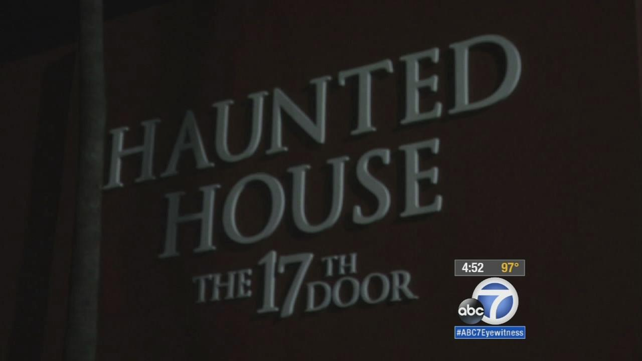 The entrance to the haunted house called the 17th Door is shown in a file photo.