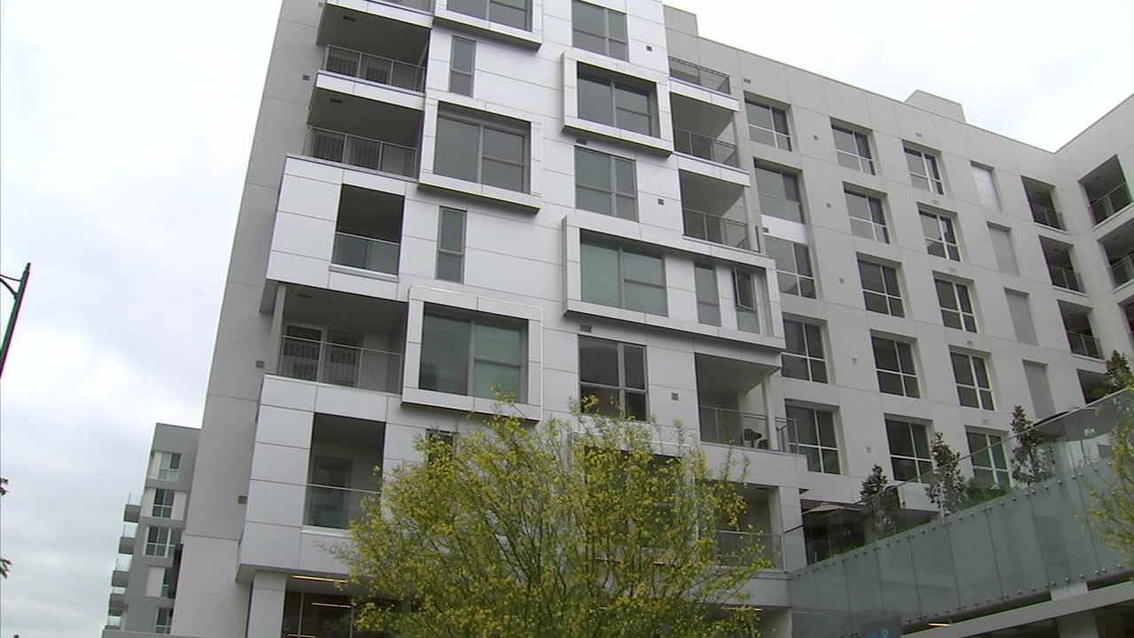An apartment complex in Los Angeles is shown in a photo.