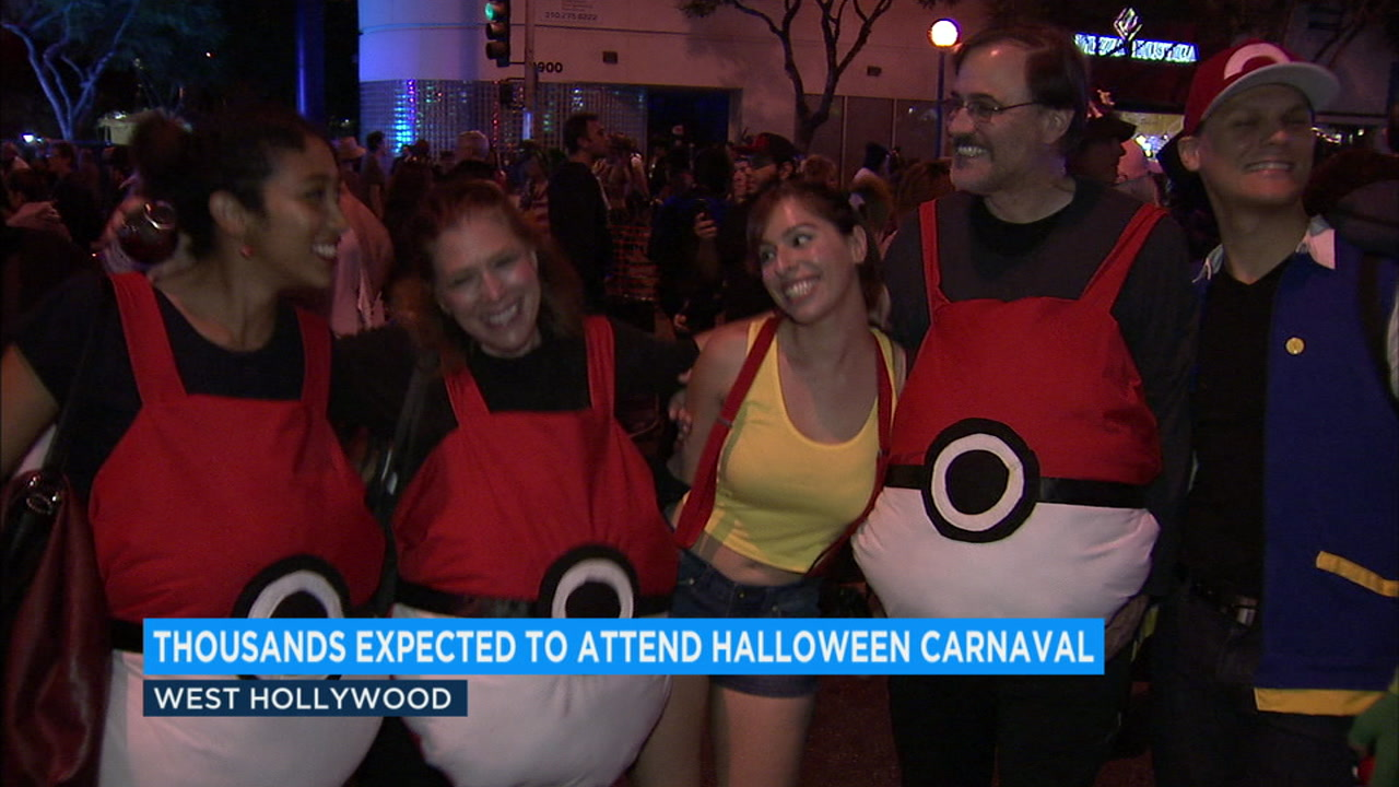 Revelers celebrate Halloween in West Hollywood.