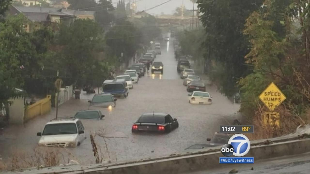 Flash flood leaves muddy mess in Boyle Heights
