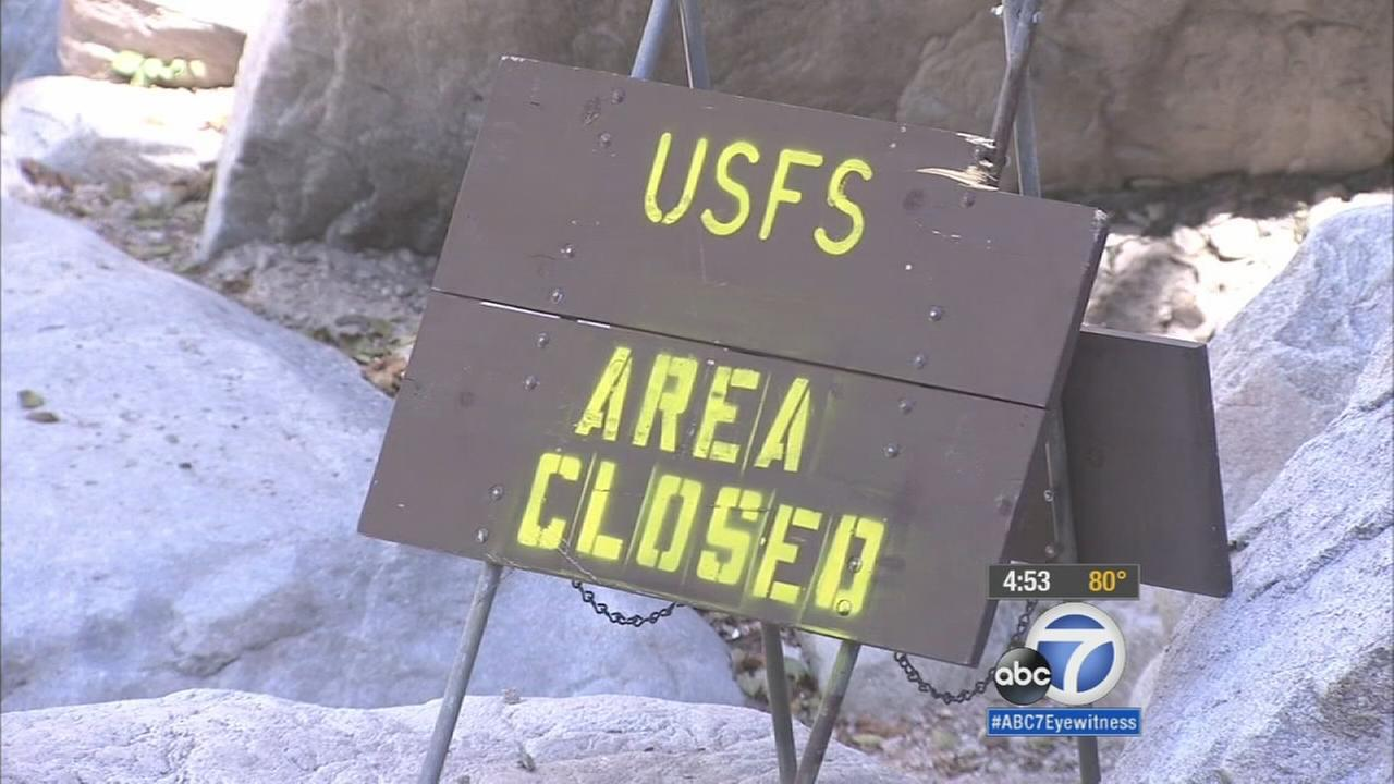 Officials announced swimming at Big Falls will be off limits until Oct. 7, 2016, because of dangerous conditions created by the drought.