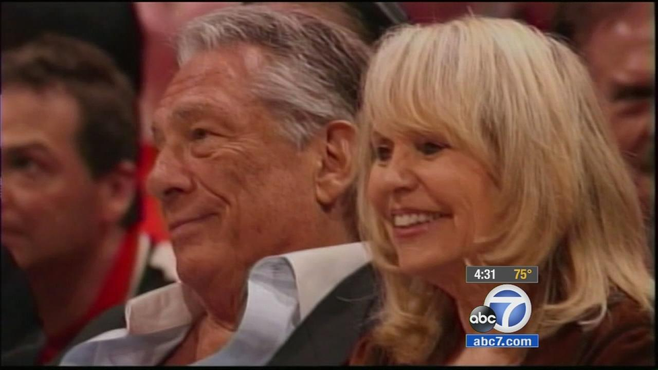 Donald Sterling is shown alongside Shelly Sterling in an undated file photo.