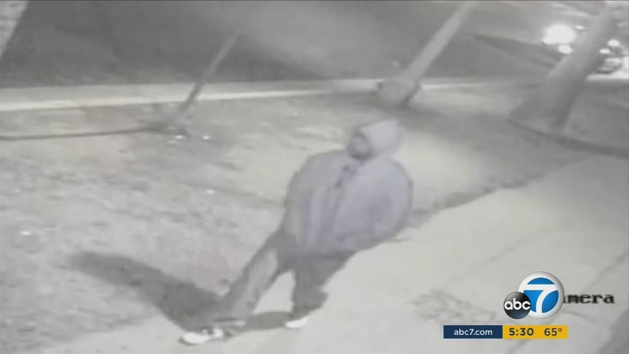 Surveillance video of a double-murder suspect is shown from Oct. 23, 2015.