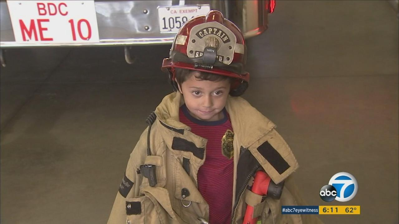 Nathaniel Stocks, 5, is being hailed a hero for saving his grandmother when their Phelan house caught fire.