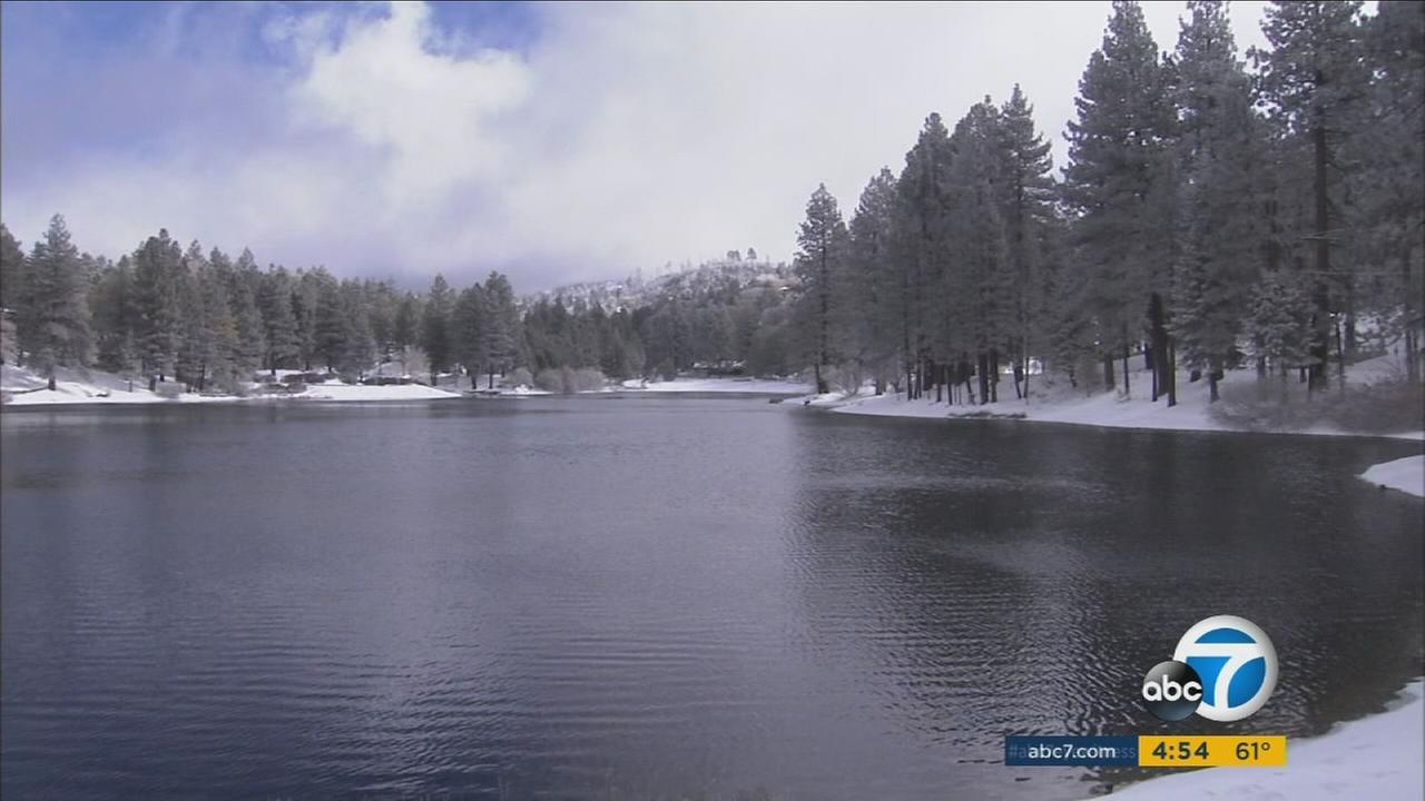 Green Valley Lake on Monday, Nov. 16, 2015, following six inches of snow overnight.