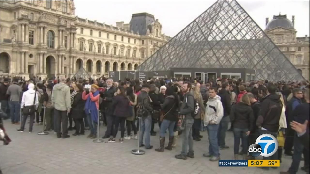 Louvre reopens in Paris on Monday, Nov. 16, 2015, following deadly terrorist attacks from ISIS.