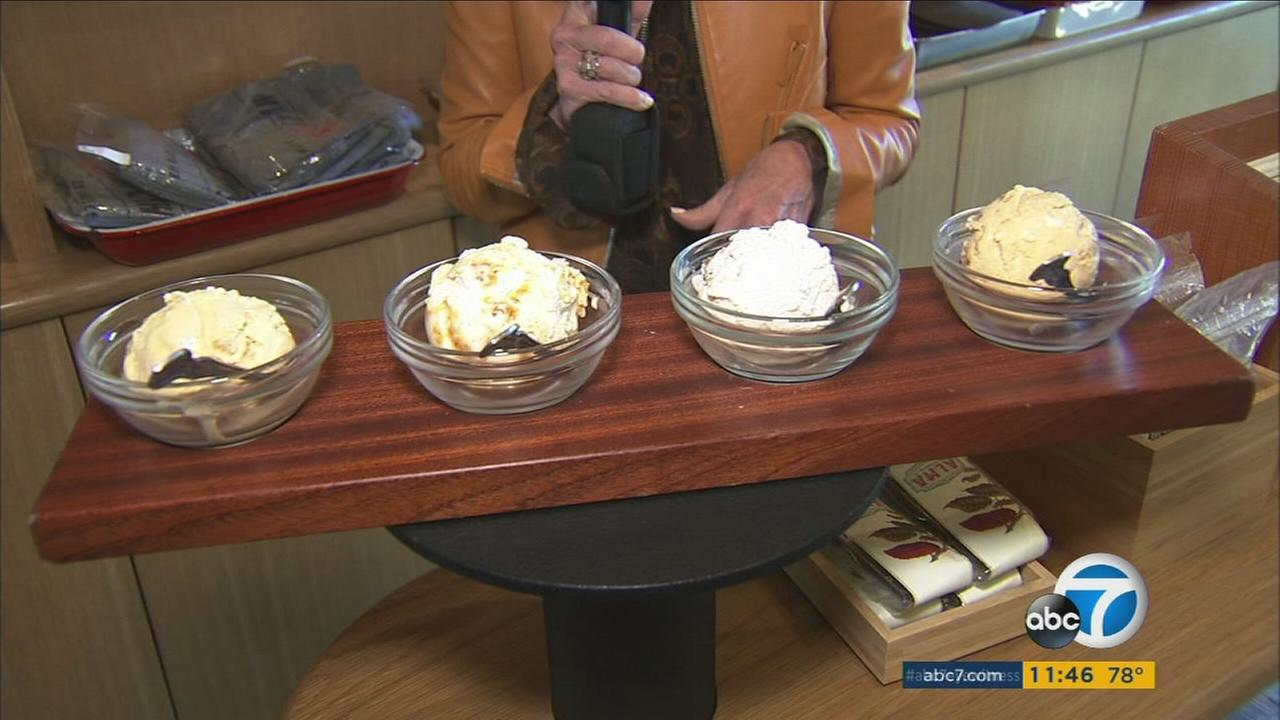 Different types of ice cream for Thanksgiving are shown in an undated photo.
