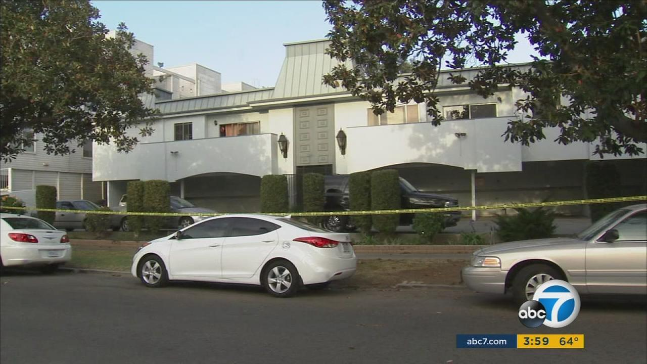 A woman was beaten and stabbed during a robbery inside her Palms apartment on Tuesday, Nov. 24, 2015.