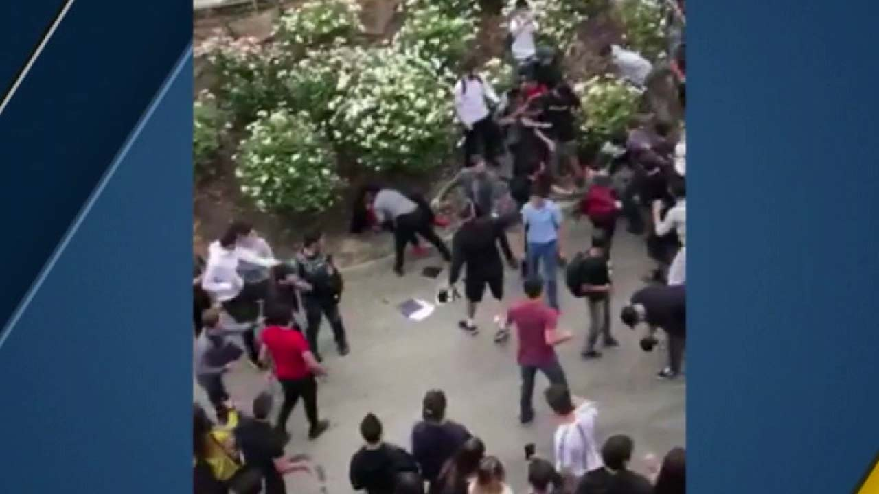 A campus brawl was caught on camera in Glendale.