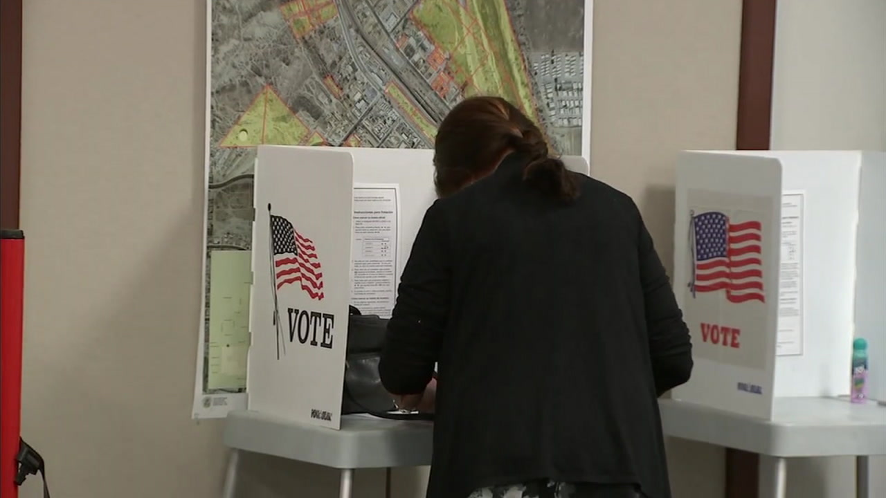 A woman voting is shown in a file photo.