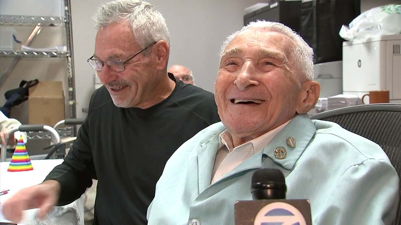 Charles Selarz celebrated his 100th birthday at Cedars-Sinai Medical Center - not as a patient, but as a volunteer.