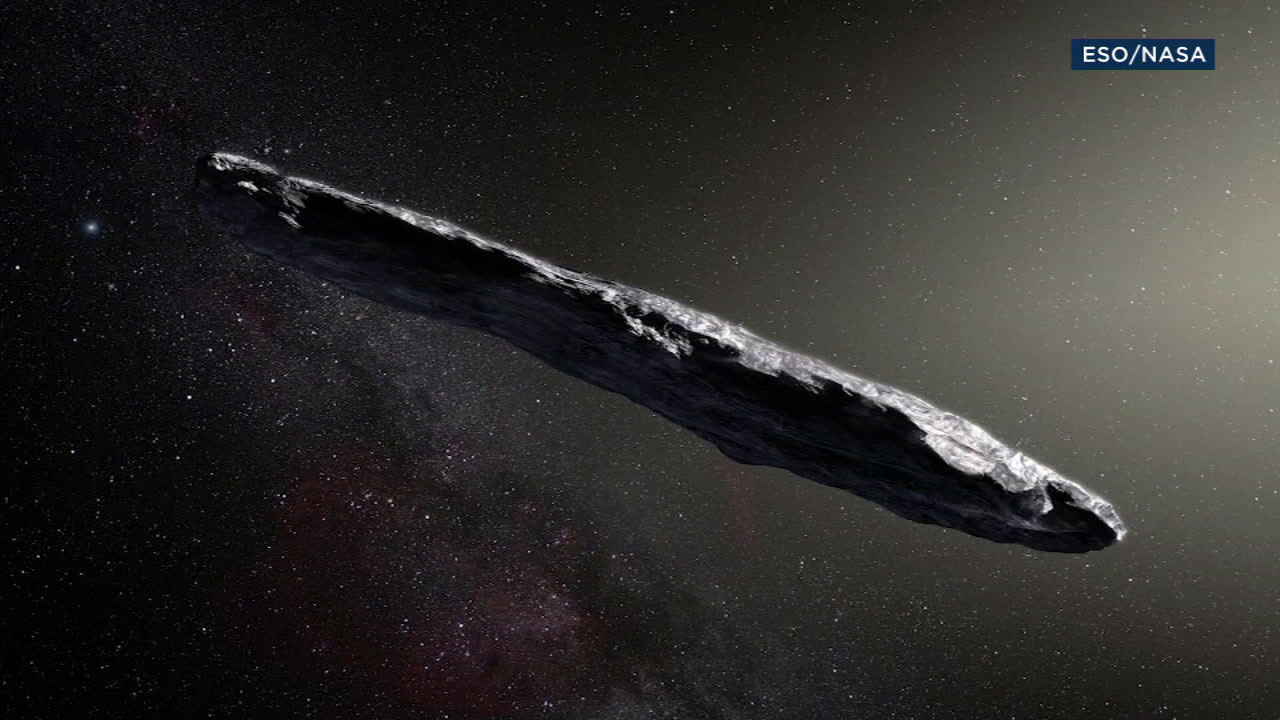 The Oumuamua is shown in a photo provided by NASA.
