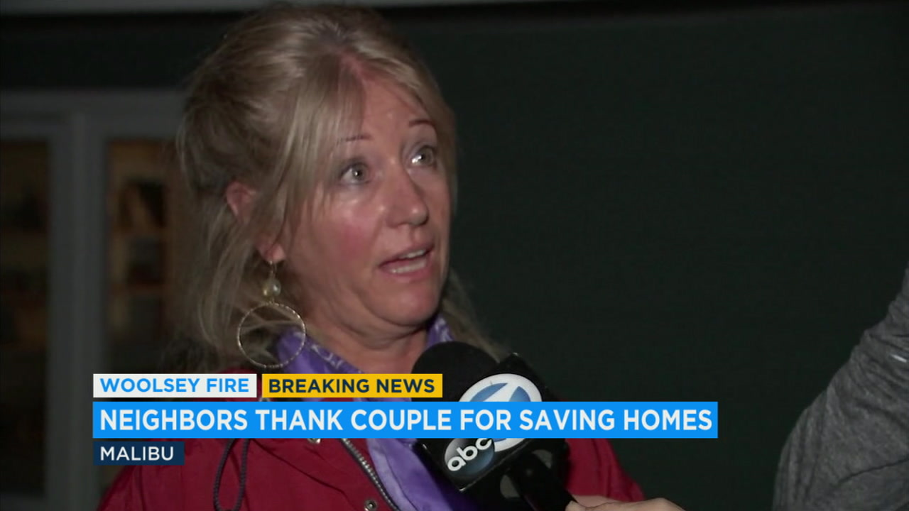 Deanne Rollins and her partner, Everett, helped save their neighbors homes from burning.