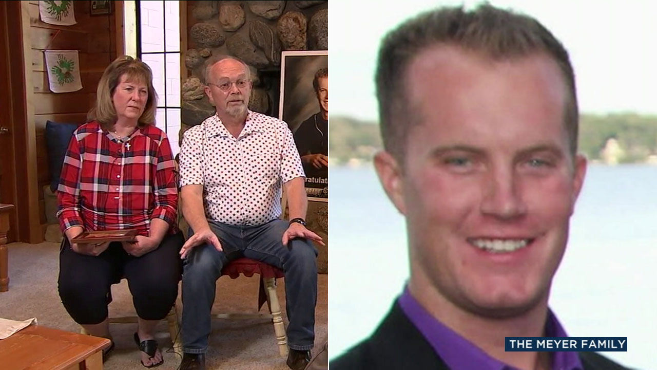 Kris and Krista Meyer are seeking answers after finding out their son Tyler (right) was murdered in Mexico.
