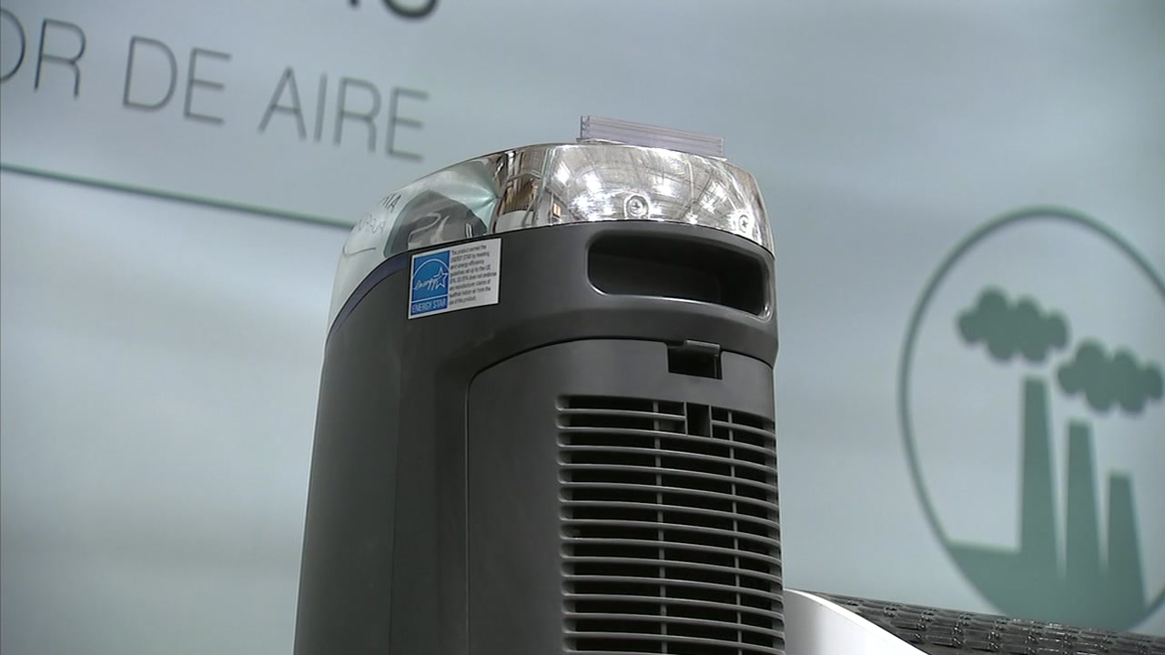 An air purifier is seen at a warehouse store.