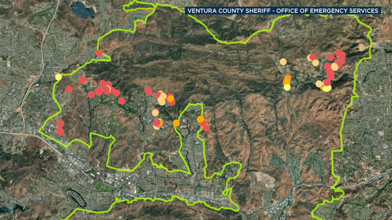 The Ventura County Sheriffs Office of Emergency Services has released an interactive damage assessment map from the Woolsey Fire.