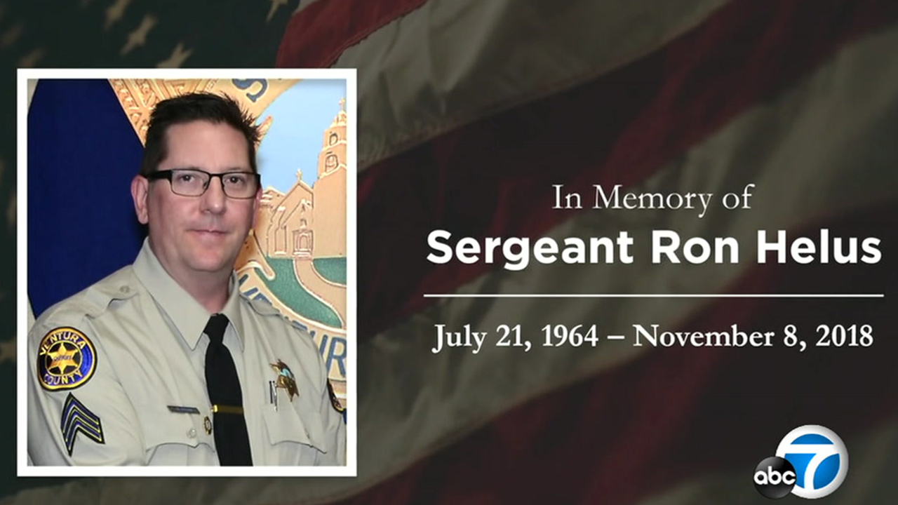 A public memorial service was held Thursday for Sgt. Ron Helus, who was killed after confronting the gunman at Borderline Bar and Grill in Thousand Oaks.