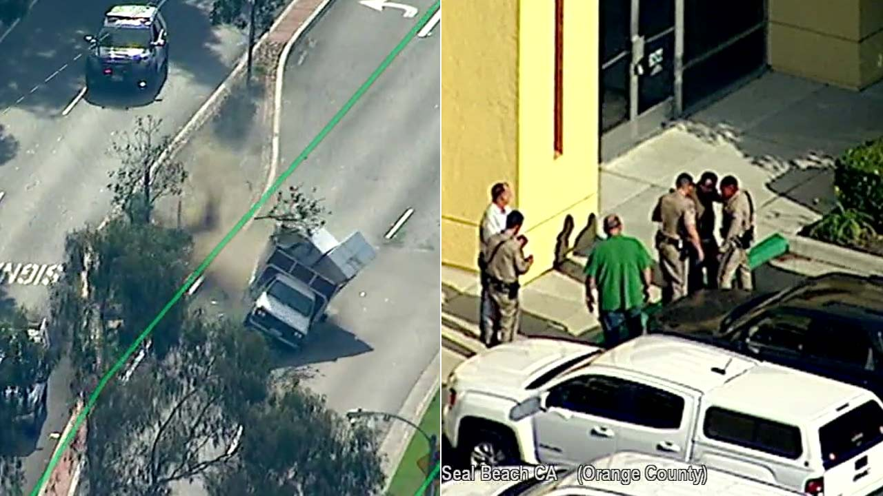 A suspect in a reportedly stolen vehicle led police on a chase in Orange County but was taken into custody after officers conducted a PIT maneuver.
