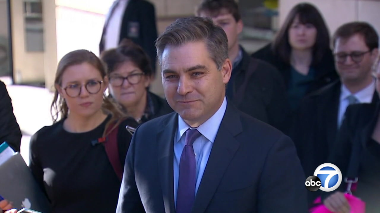 A federal judge in Washington is ordering the Trump administration to immediately return the White House press credentials of CNN reporter Jim Acosta.