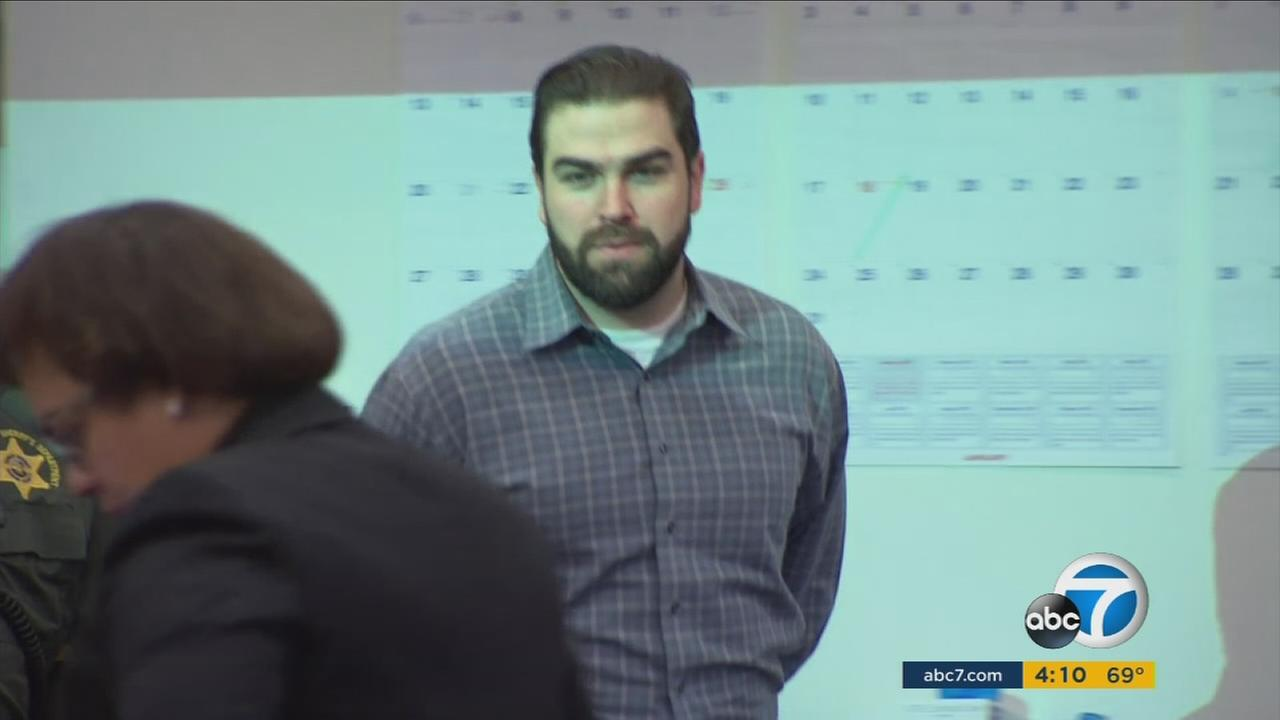 Daniel Wozniak, 31, on trial on Wednesday, Dec. 9, 2015, for the murder of two people in Costa Mesa.