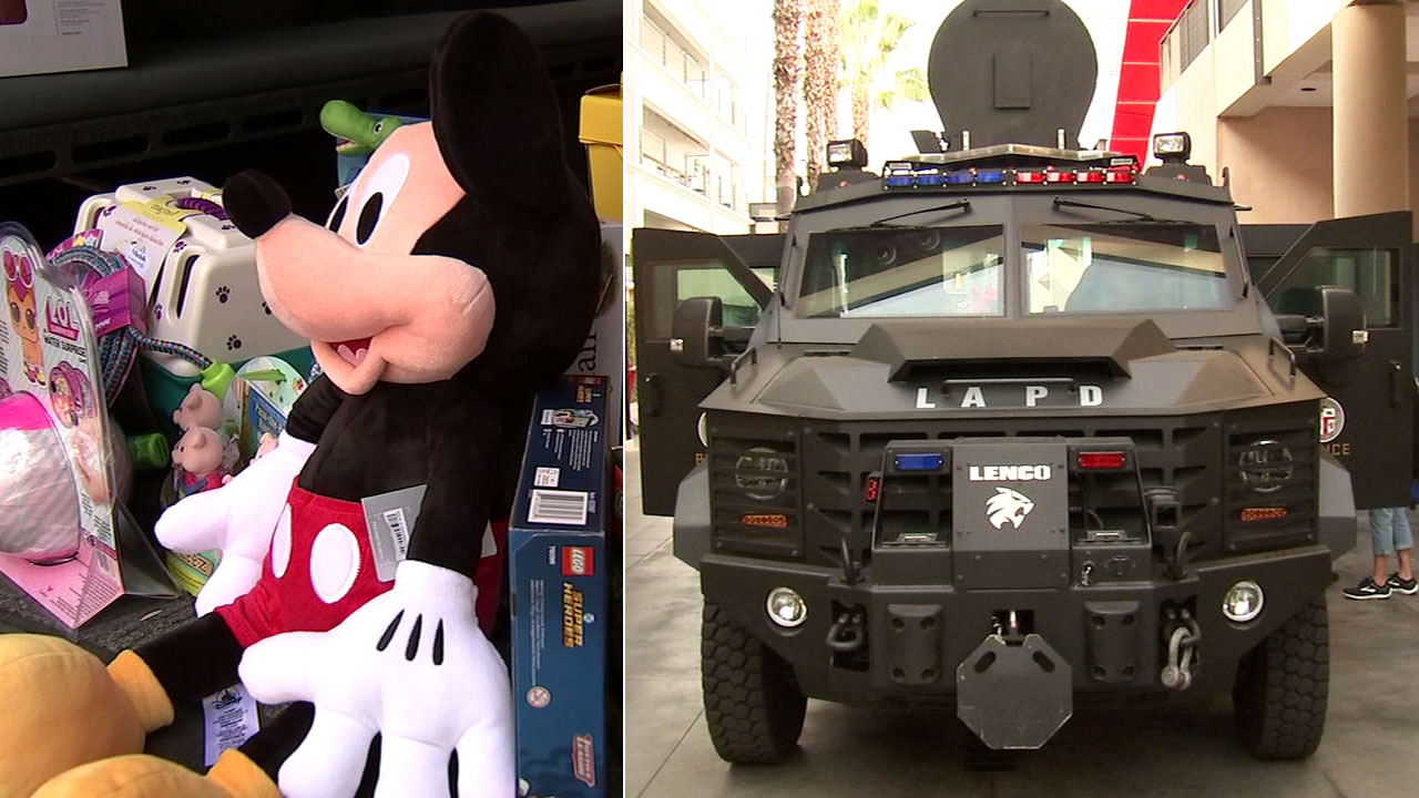 The Los Angeles Police Department got some help from the public in the mission to stuff a SWAT BEAR vehicle with toys.