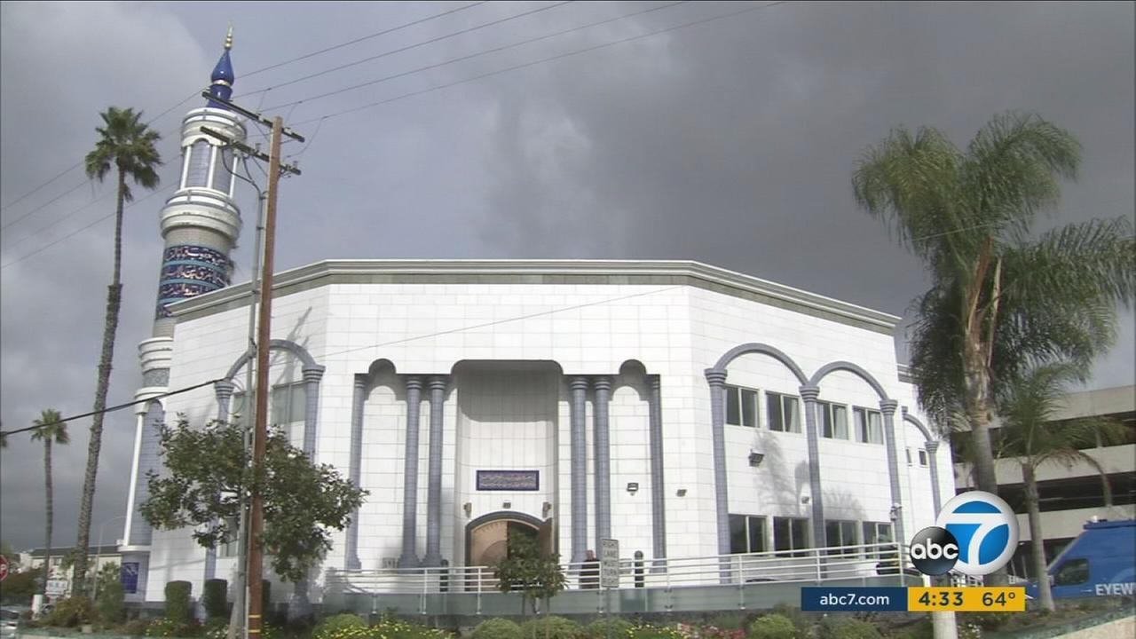 A mosque in Los Angeles County is shown in a photo taken on Thursday, Dec. 10, 2015.