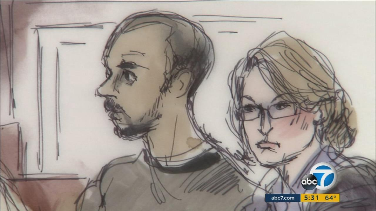 Muhanad Badawi, depicted in an earlier court drawing, will be force-fed if he continues to lose weight, a U.S. District Court judge told him on Thursday, Dec. 10, 2015.
