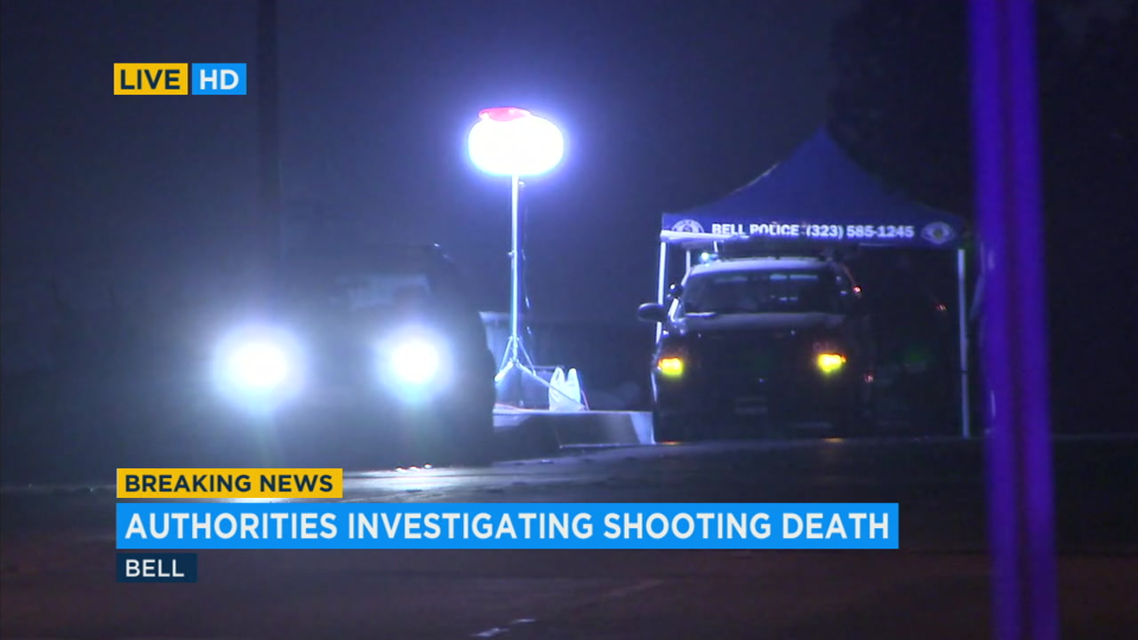 Authorities investigate a shooting death in Bell.