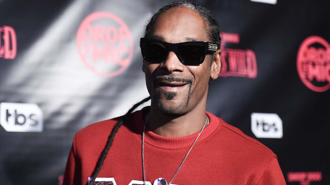 Snoop Dogg attends a red carpet event for Drop the Mic and The Jokers Wild Premiere at The Highlight Room on Wednesday, Oct. 11, 2017, in Los Angeles.