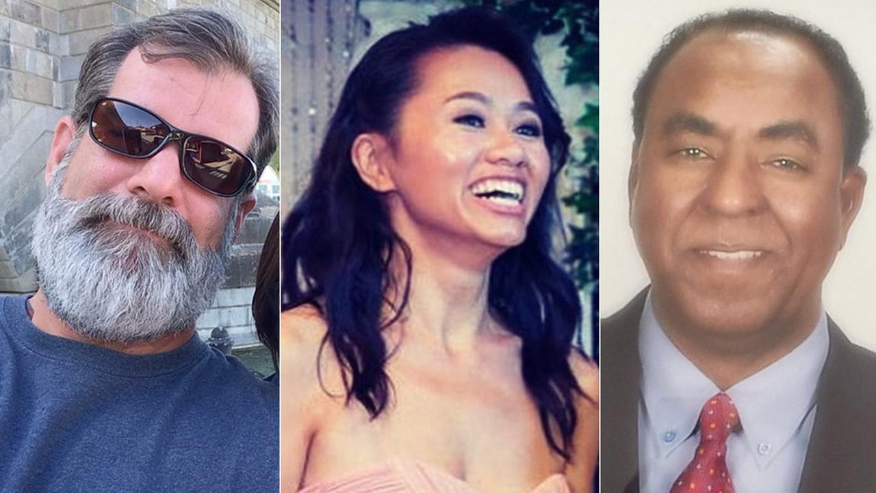 Shannon Johnson, Tin Nguyen and Isaac Amanois are shown in undated photos.