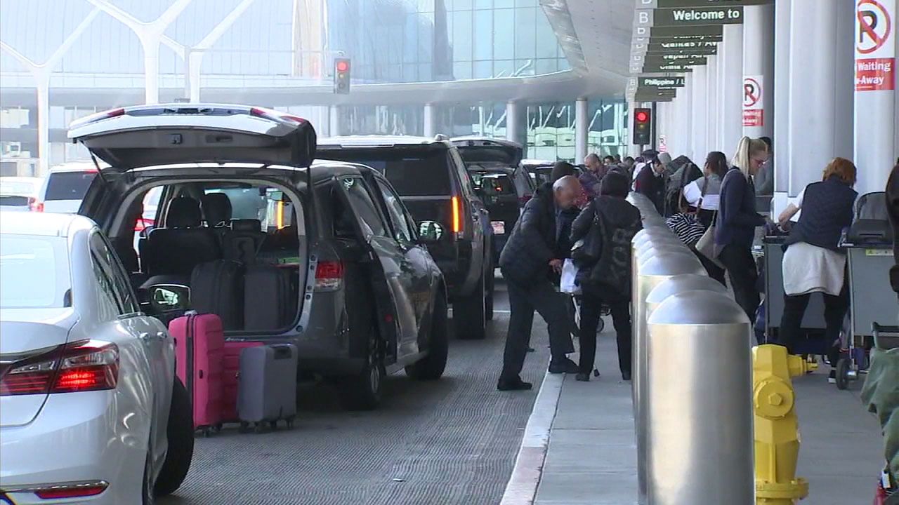 Passengers gear up to travel out of Los Angeles International Airport.
