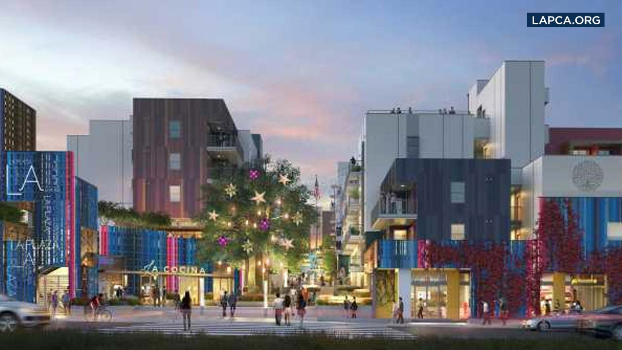 An artist rendering shows La Plaza Cocina.