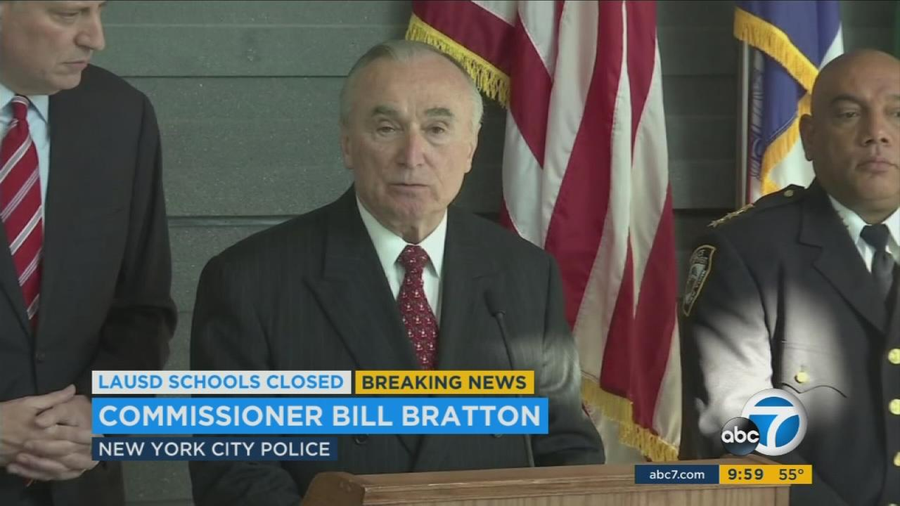 New York City Police Commissioner William Bratton speaks at a press conference on Tuesday, Dec. 15, 2015.
