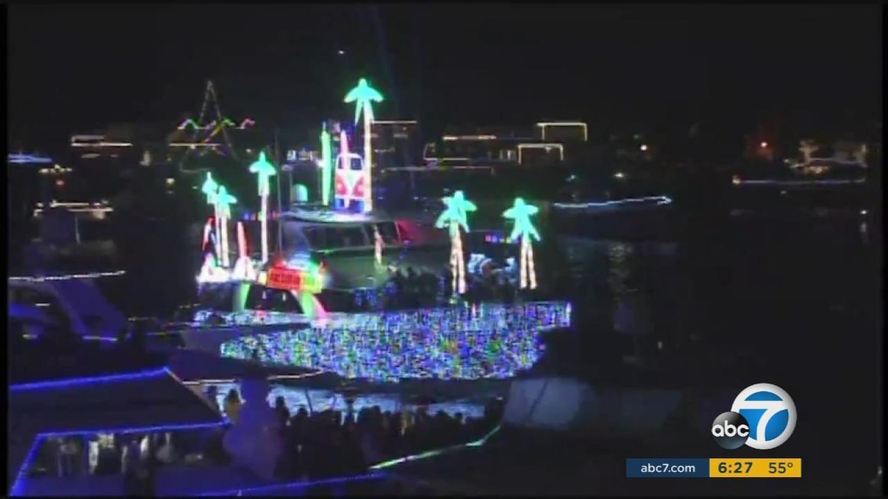 107th annual Newport Beach Christmas Boat Parade sets sail   abc7.com