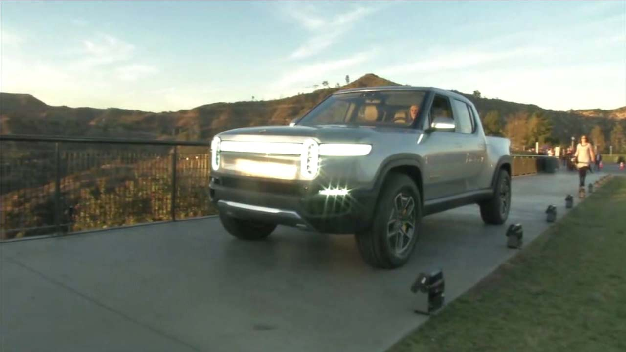 A Rivian vehicle is seen in this photo.