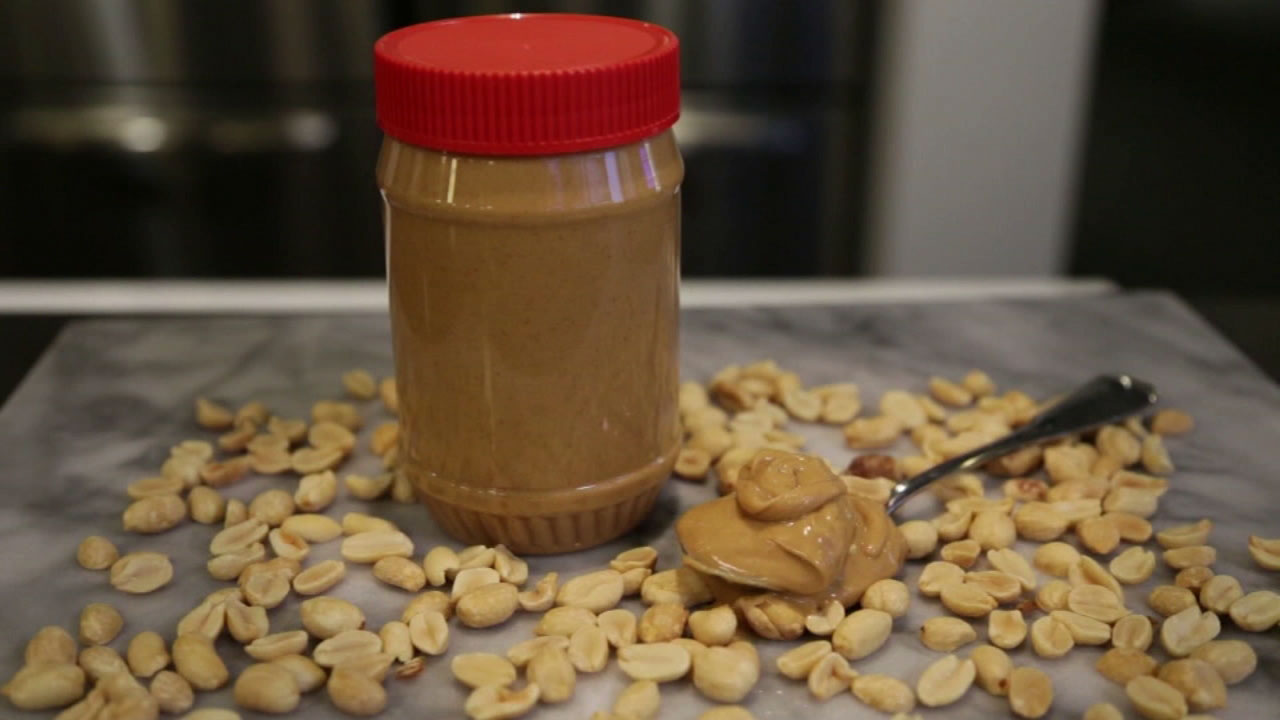 Peanuts and peanut butter are shown in a file photo.