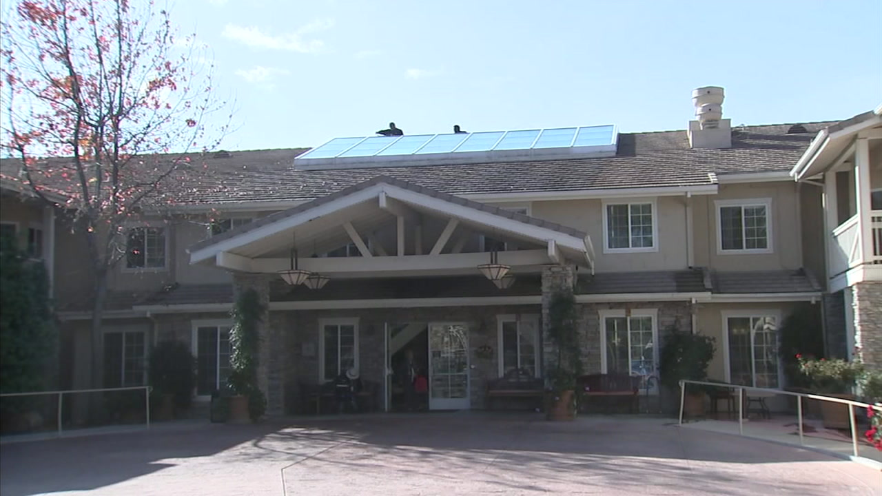 The Meadowbrook Senior Living Facility in Agoura Hills is shown in a photo.