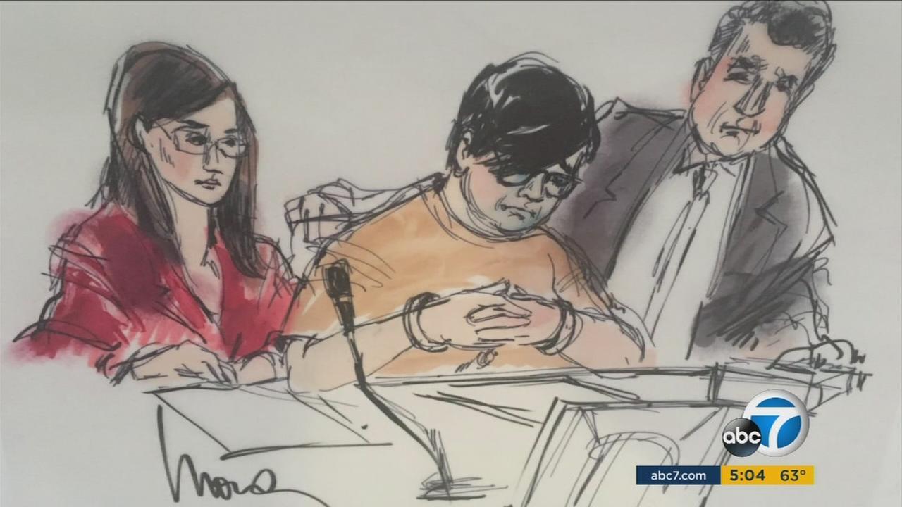 Enrique Marquez is shown in court in a sketch on Thursday, Dec. 18, 2015.