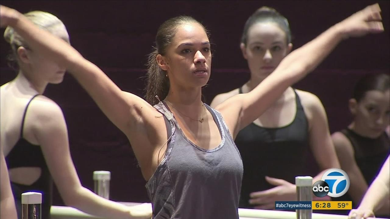 The first African-American female principal dancer at the American Ballet Theatre, Misty Copeland, during a performance in The Nutcracker.