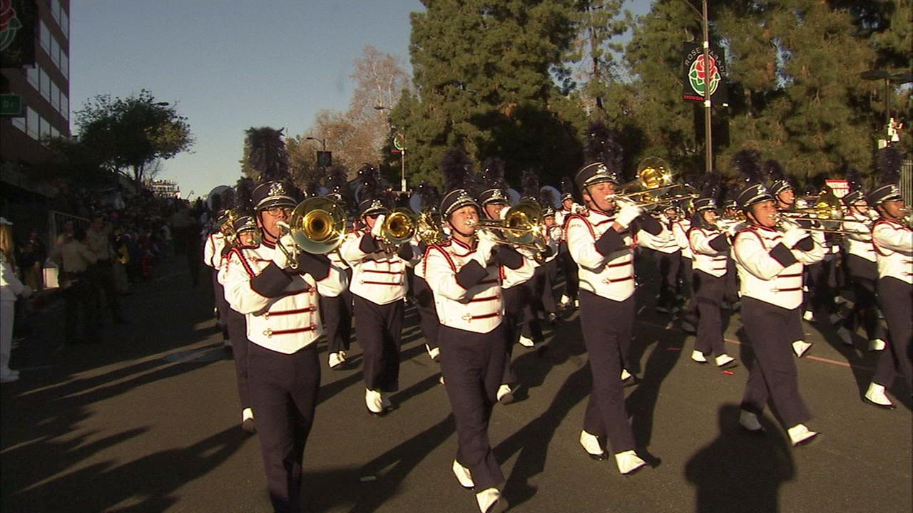 Performers march at the Tournament of Roses Parade in this undated file photo.