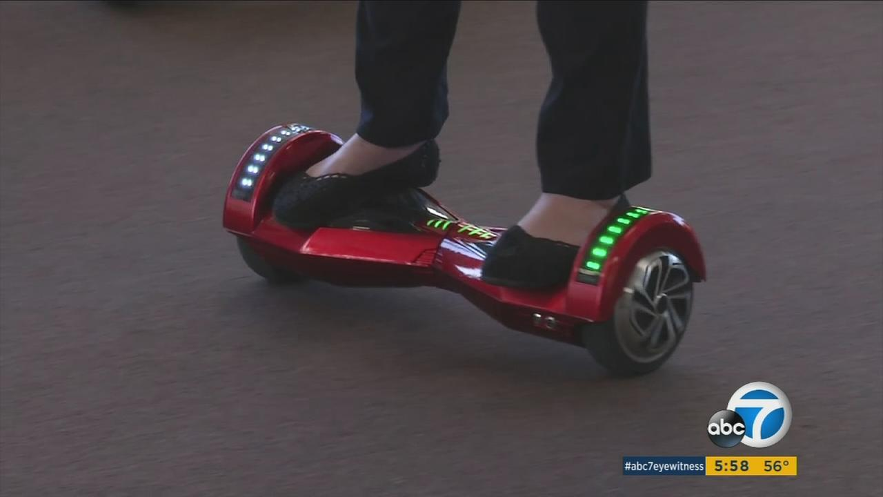 A hoverboard is shown in this undated photo.