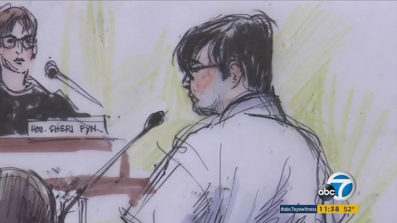 Enrique Marquez is seen in a courtroom sketch.