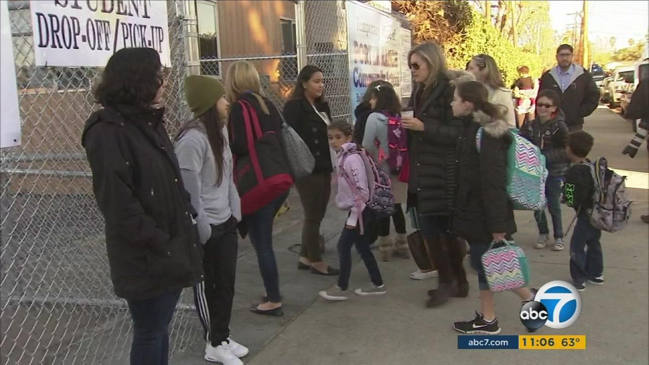 Nearly 1,900 Porter Ranch-area students started the year at different schools Tuesday in response to the foul-smelling gas leak at a nearby gas storage facility.