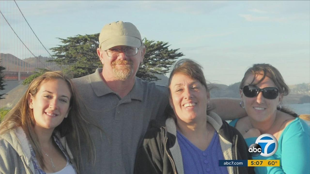 The Meins family poses in an undated photo. Damian Meins was killed during the San Bernardino terrorist attack at the Inland Regional Center on Dec. 2, 2015.